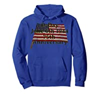 D-day June 6th 1944 75th Anniversary Commemorative 48 Star T-shirt Hoodie Royal Blue