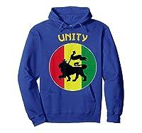 Rasta Live Up Unity Design Shirts Hoodie Royal Blue