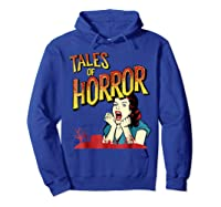 Vintage Horror Movie Poster Funny Halloween Shirts Hoodie Royal Blue