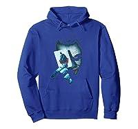 Batman Dark Knight Joker T-shirt Hoodie Royal Blue