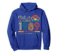 Classic October 1989 Shirt 31st Birthday Gifts 31 Years Old T-shirt Hoodie Royal Blue