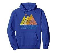 Vintage Breckenridge Colorado Mountain Sunset Retro Shirts Hoodie Royal Blue