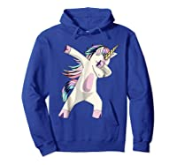 Dabbing Unicorn For Daughter Son Granddaughter Daddy Shirts Hoodie Royal Blue