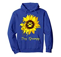 Dog Grampy Sunflower Gift Love Dogs And Flowers T-shirt Hoodie Royal Blue