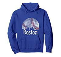 Vintage Boston Baseball Gifts Red Skyline Classic City Tank Top Shirts Hoodie Royal Blue