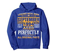 Vintage September 1994 Birthday Gift For 25 Yrs Old D1 Shirts Hoodie Royal Blue