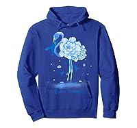 Awareness Flamingo Bule Ribbon Shirts Hoodie Royal Blue
