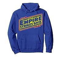 Star Wars The Empire Strikes Back Vintage Logo T-shirt Hoodie Royal Blue