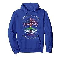 American Grown Iranian Roots Iran Flag T-shirt Hoodie Royal Blue