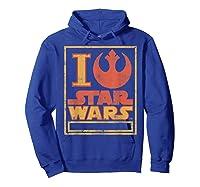 S Rebel Alliance Love Shirts Hoodie Royal Blue