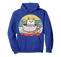 Coffee Cats Retro Vintage Gift T-shirt Hoodie Royal Blue