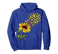 Dog Paw Sunflower You Are My Sunshine T-shirt Hoodie Royal Blue