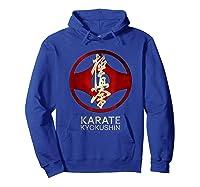 Karate Kyokushin T-shirt Hoodie Royal Blue