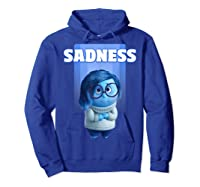 Pixar Inside Out Sadness Portrait Shirts Hoodie Royal Blue