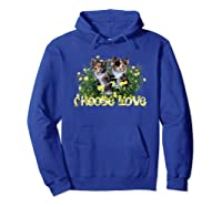 Calico Cats In The Roses By Bonnie Vent Shirts Hoodie Royal Blue