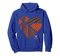 Virginia Cavaliers Patterned Heart Apparel Shirts Hoodie Royal Blue