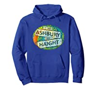 60s 70s Retro Flower Power Haight Ashbury Street Signs 1 Shirts Hoodie Royal Blue