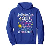 September Girls 1985 35th Years Old Awesome Since 1985 Shirts Hoodie Royal Blue