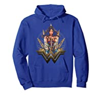 Wonder Woman Movie Wonder Blades T-shirt Hoodie Royal Blue
