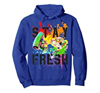 Splatoon Pride Stay Fresh Rainbow Paint Splat Shirts Hoodie Royal Blue