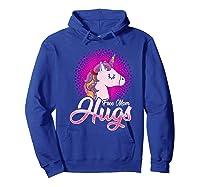 Free Mom Hugs Rainbow Lgbt Pride Unicorn T-shirt Gift Hoodie Royal Blue