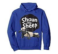 Shaun The Sheep Alt Logo With Shaun Shirts Hoodie Royal Blue