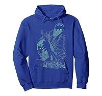 Batman Gritted Teeth T-shirt Hoodie Royal Blue