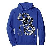 Snake Reptile Boas Herpetology Illustration Shirts Hoodie Royal Blue