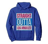 Straight Outta Los Angeles Basketball Shirts Hoodie Royal Blue