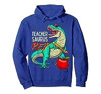 Teasaurus Rex - Funny Dinosaur Tea Appreciation Gift T-shirt Hoodie Royal Blue