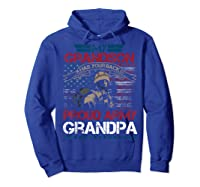 My Grandson Has Your Back Proud Army Grandpa Gift Shirts Hoodie Royal Blue