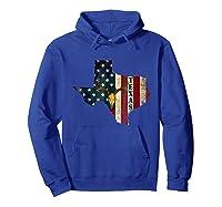 Texas Deer Hunting Gift Deer Skull Usa Flag Hunter Shirts Hoodie Royal Blue