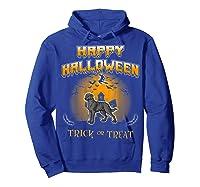 Chesapeake Bay Retriever Dog Happy Halloween T-shirt Hoodie Royal Blue