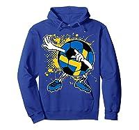 Dabbing Sweden Soccer Tshirt For Football Tee Hoodie Royal Blue