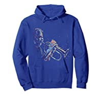 Trumpet Jazz Player Abstract Music Tea Trumpeter Gift Shirts Hoodie Royal Blue
