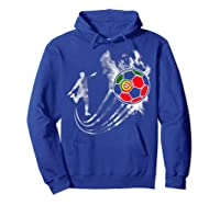 Portugal Soccer Team T-shirt For Fans And Players Hoodie Royal Blue