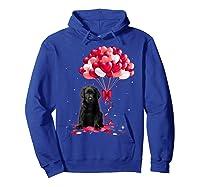 Black Labrador Love Balloons Valentine Day Shirts Hoodie Royal Blue