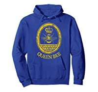 Queen Bee Vintage Beekeeper Mom Mother's Day Wife Gift Shirts Hoodie Royal Blue
