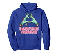 Love You Forever Zombie Heart T-shirt Hoodie Royal Blue