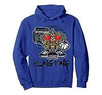 Hip Hop Bling King Shirts Hoodie Royal Blue