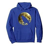 Raven Full Moon Halloween Shirts Hoodie Royal Blue