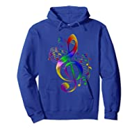 Treble Clef With Music Notes Shirts Hoodie Royal Blue
