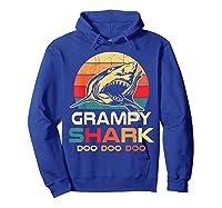 Grampy Shark Doo Doo Doo Fathers Day Gift Shirts Hoodie Royal Blue