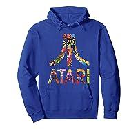 Atari Montage Logo Arms Shirts Hoodie Royal Blue