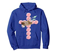 Where Flowers Bloom So Does Hope Floral Christian Cross Shirts Hoodie Royal Blue