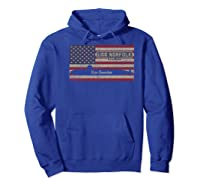 Uss Norfolk Ssn-714 Sub American Flag Gift Premium T-shirt Hoodie Royal Blue