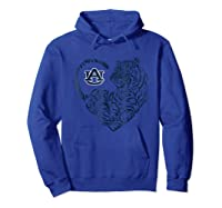 Auburn Tigers Tiger Heart - Orange Shirt T-shirt - Apparel Hoodie Royal Blue