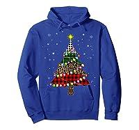 Christmas Tree Leopard Print Buffalo Plaid Merry Xmas Gift Shirts Hoodie Royal Blue