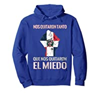 Dominican Republic Flag Fist Dominican Election 2020 Protest T-shirt Hoodie Royal Blue