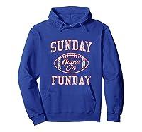 Vintage Sunday Funday T Shirt New England Football Retro Tee Hoodie Royal Blue